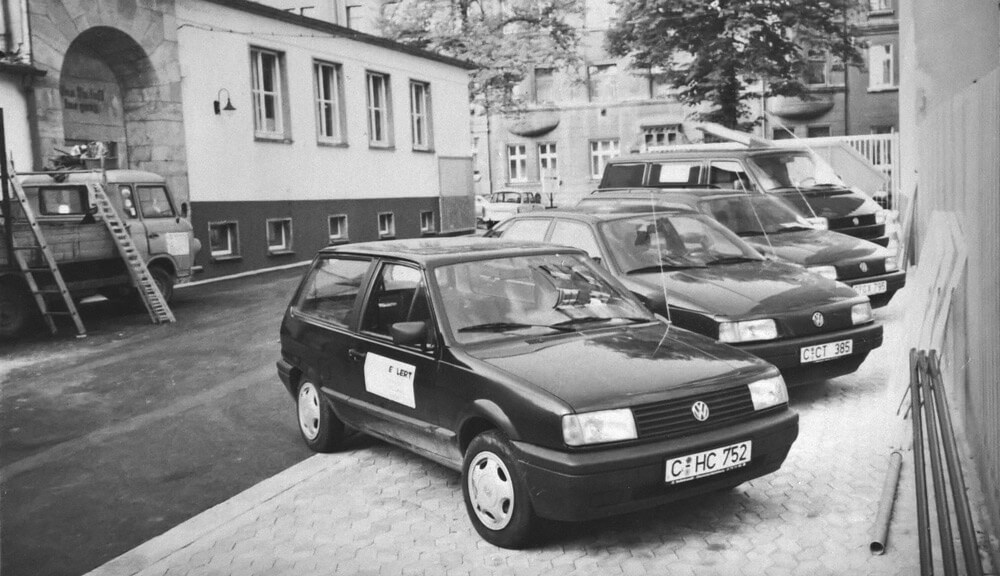 Firmenfahrzeuge an der Vetterstraße